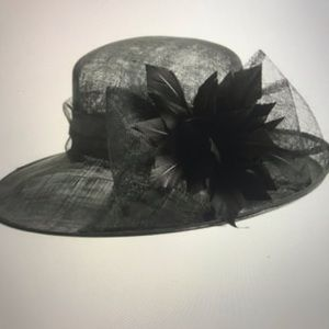 Nordstrom Netted Feather and Bow Hat NWOT